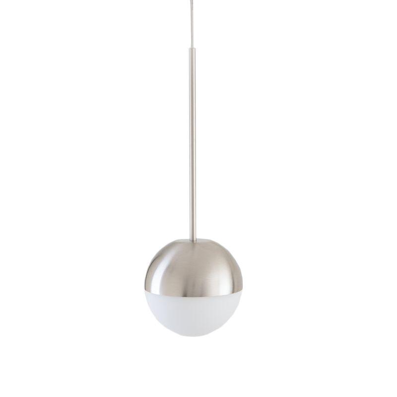 FONTANA ARTE lampada a sospensione PALLINA (Nickel - Vetro soffiato satinato e metallo galvanizzato)