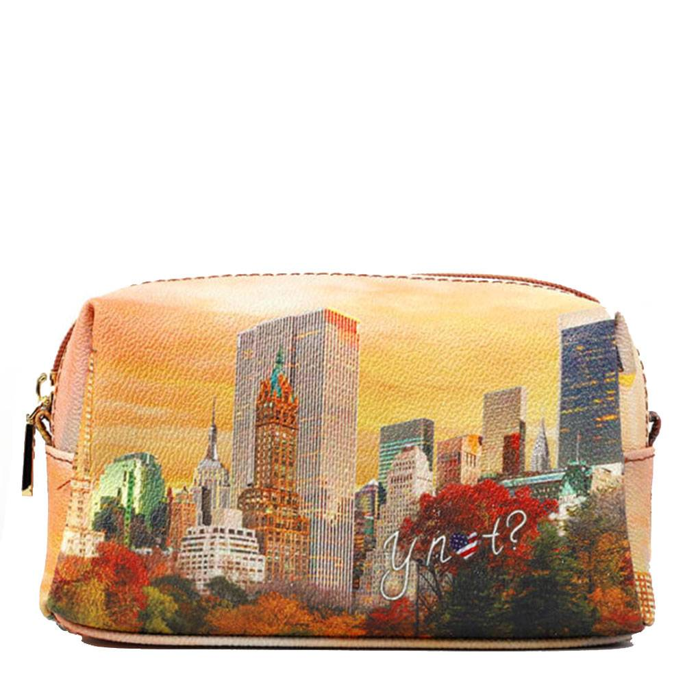 Y Not? Beauty Medio con Zip Y NOT stampa New York Central Park YES-302