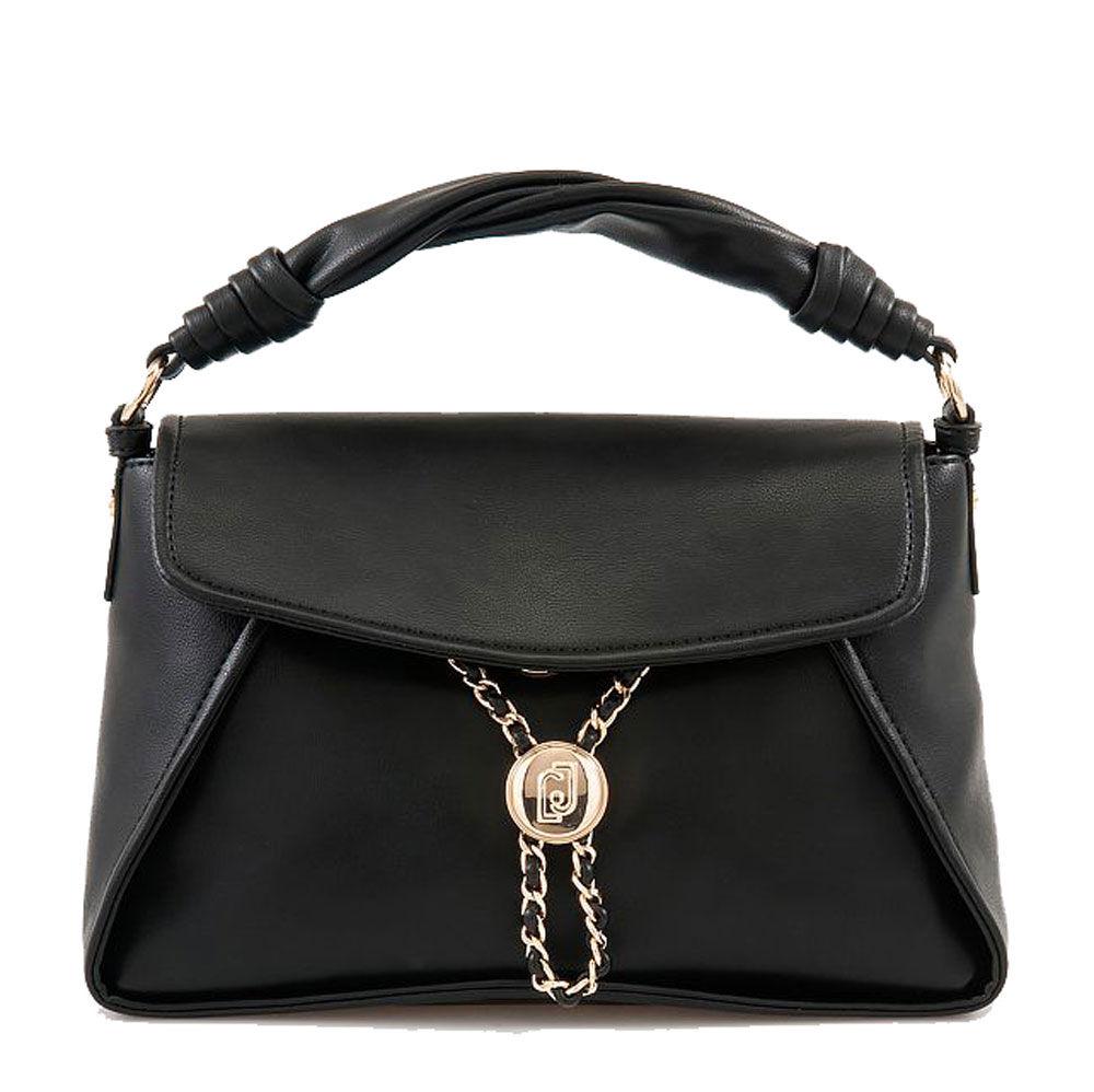 liujo borsa donna a mano con tracolla con catena gioiello colore nero
