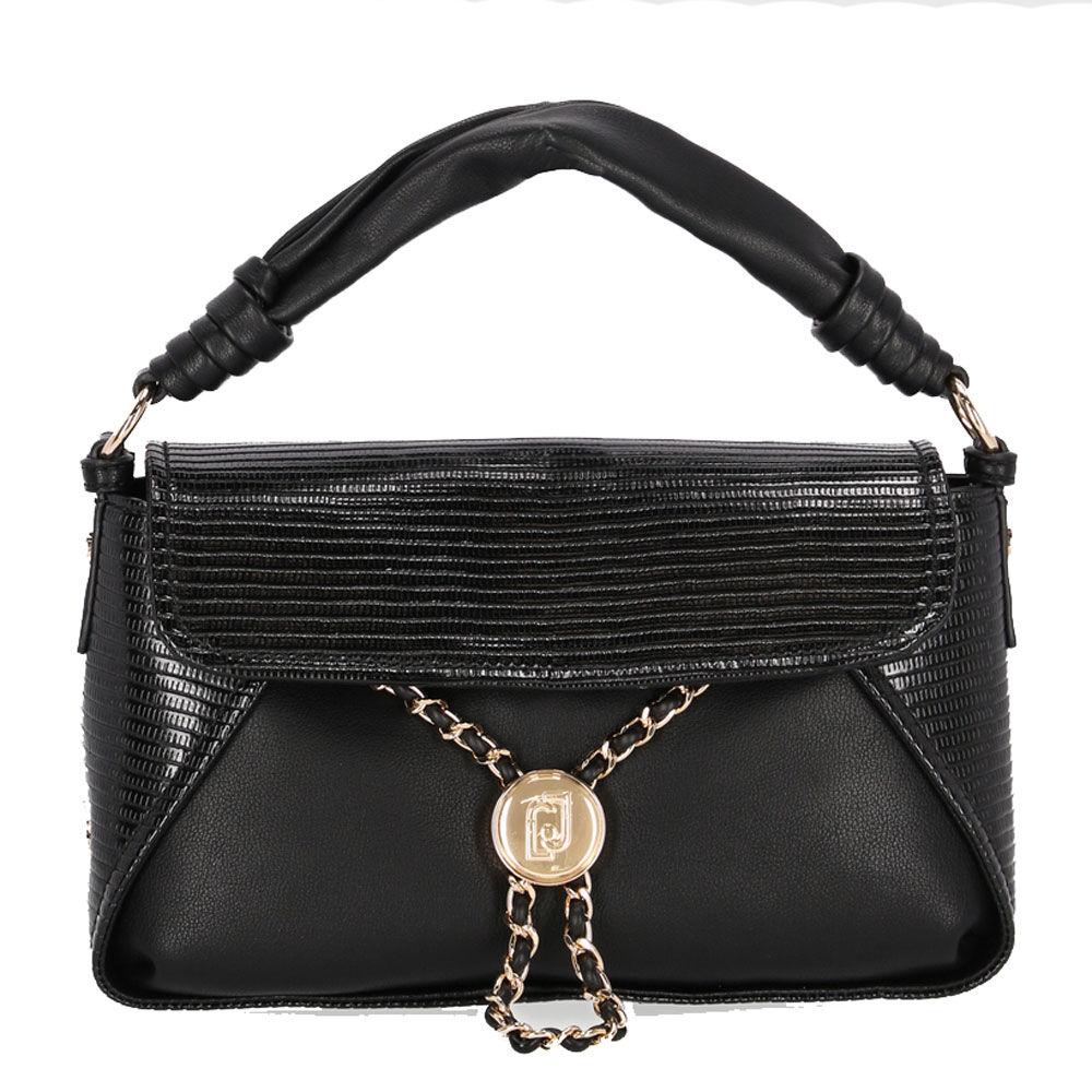 liujo borsa donna a mano con catena gioiello colore nero