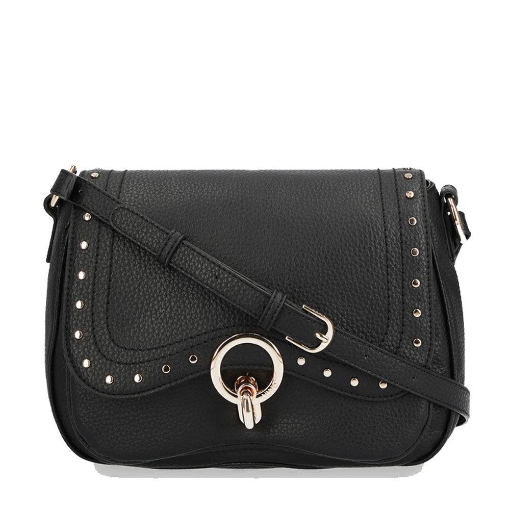 liujo borsa donna a tracolla con occhiello decorativo e borchie colore nero