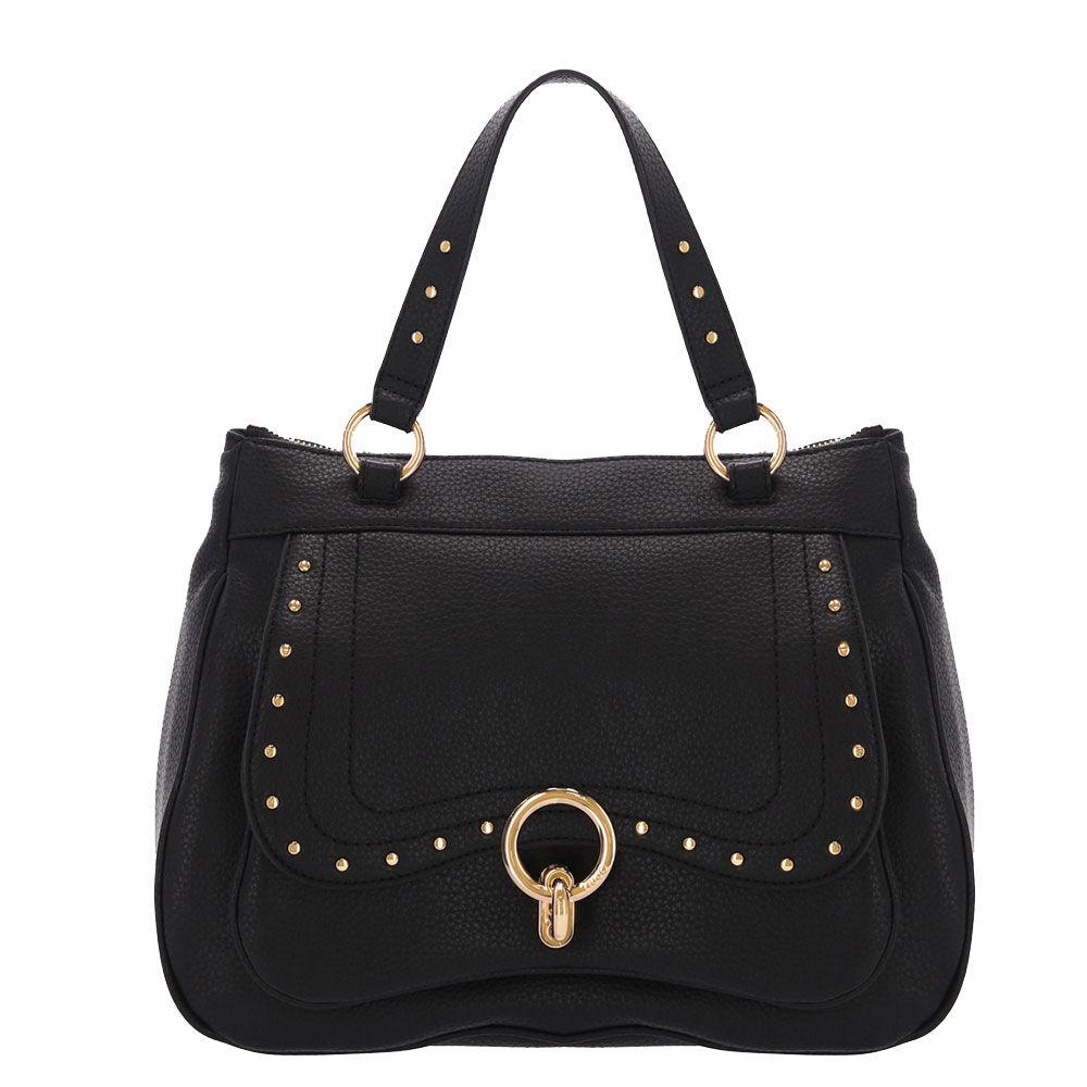 liujo borsa donna a mano colore nero con borchie applicate