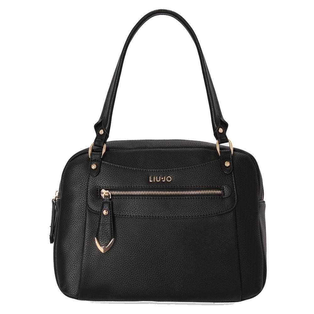 liujo borsa donna bauletto a spalla nero con tasche