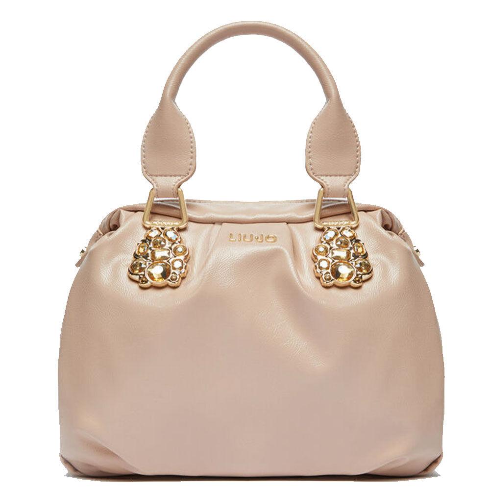 liujo borsa donna a mano con dettagli gioiello colore vintage rose