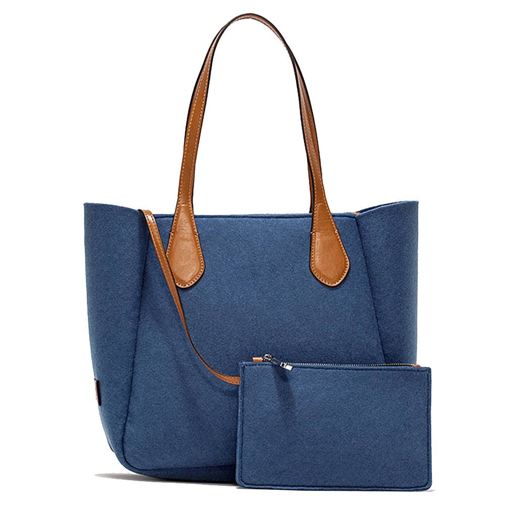 gum borsa donna shopper a spalla linea blooming bag colore avio
