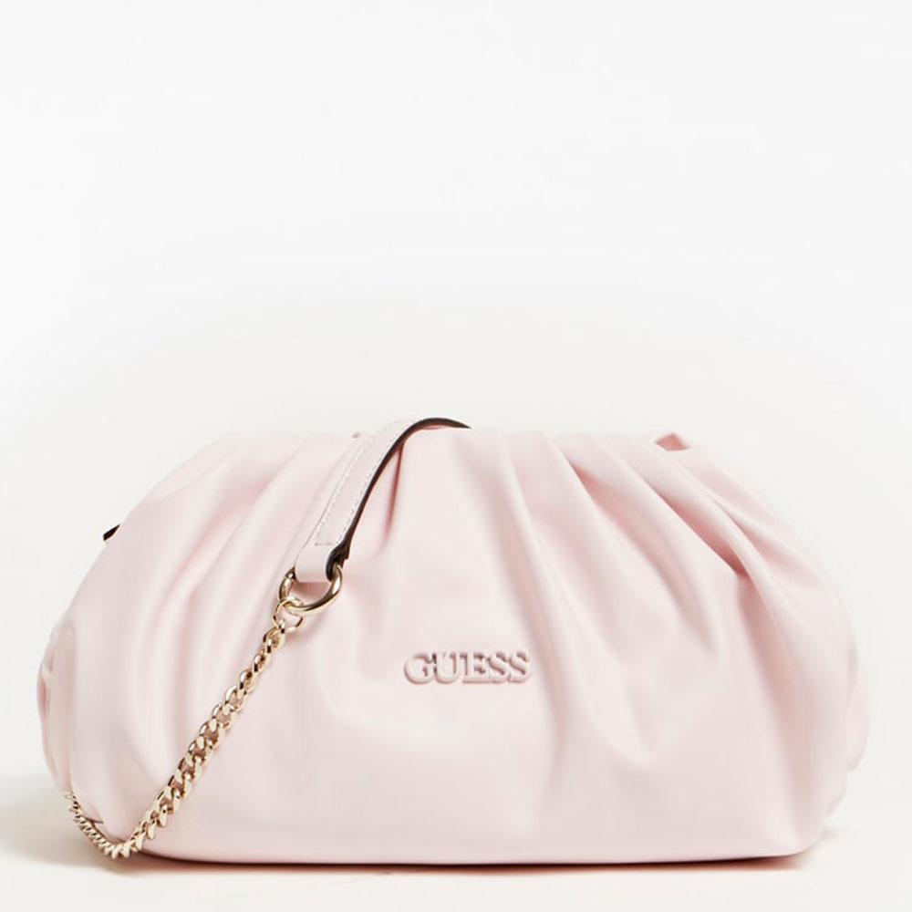guess borsa donna clutch con tracolla colore blush linea central city