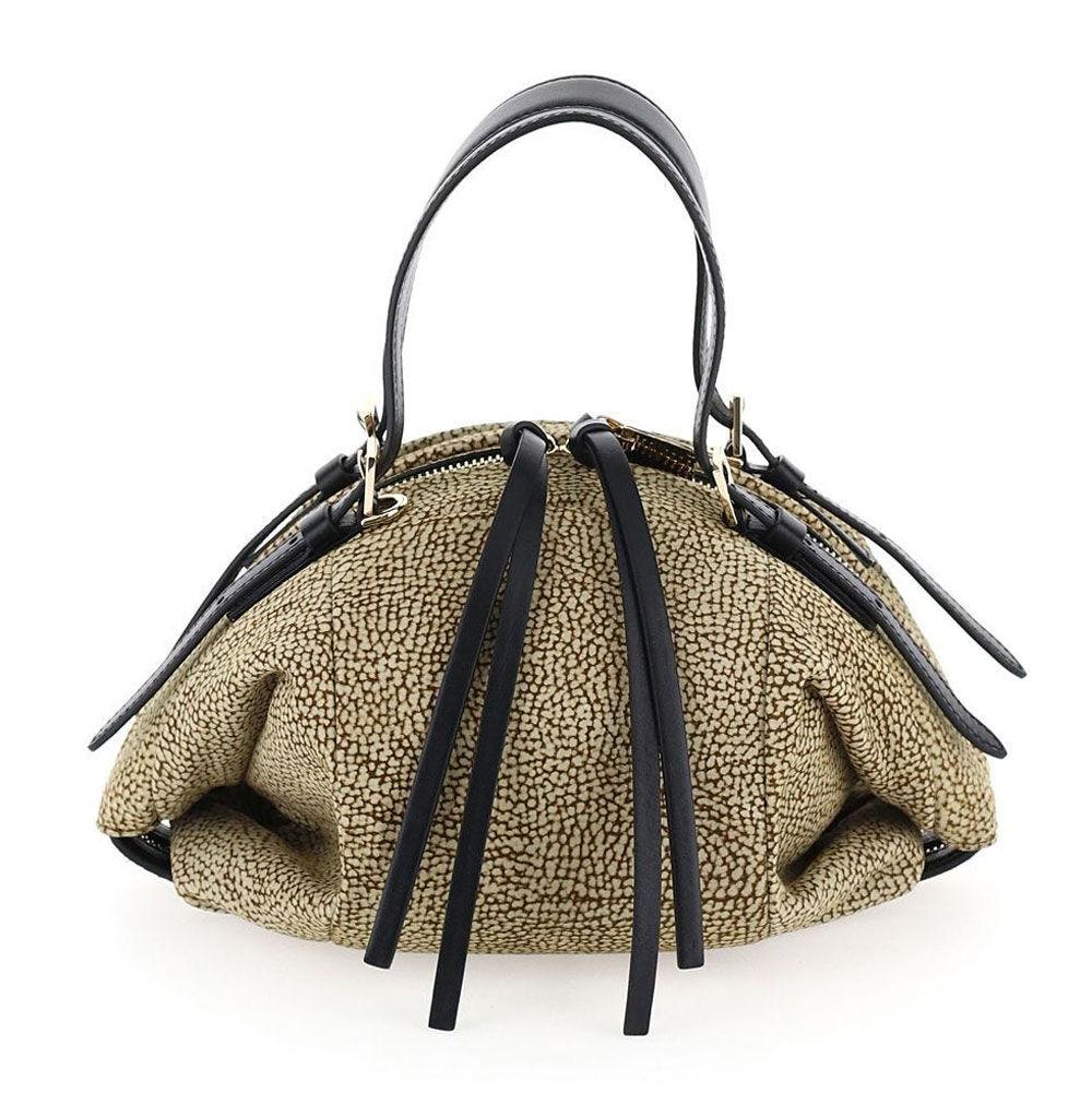 borbonese borsa donna a mano in camoscio linea bubble bag colore op naturale