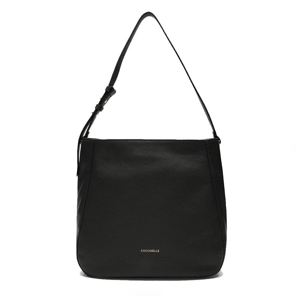 coccinelle borsa donna hobo a spalla in pelle linea lea colore nero