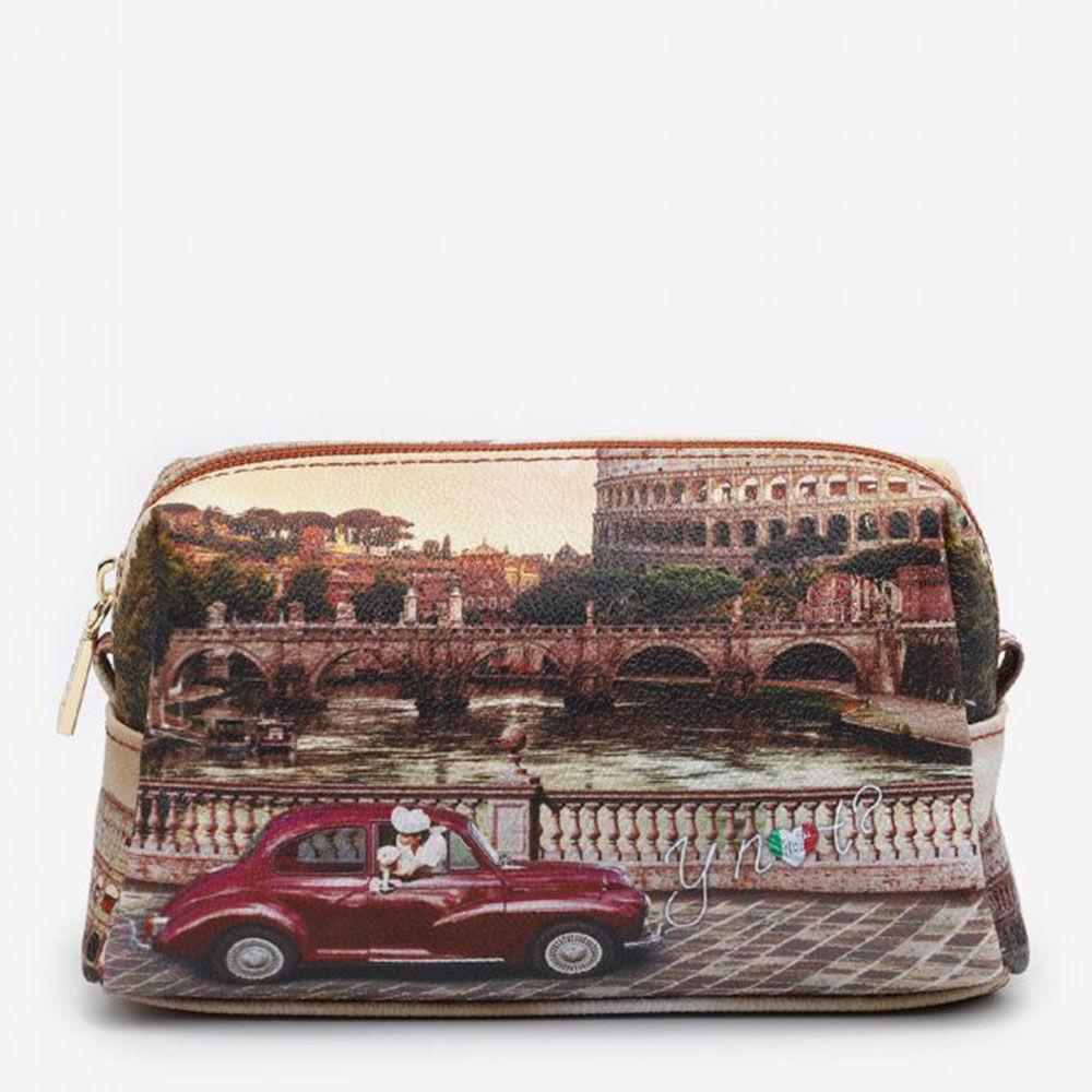 y not? beauty medio con zip y not yes-302 stampa roma vintage