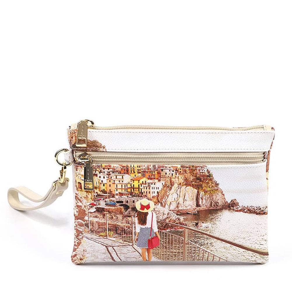y not? pochette donna con zip y not yes-342 tramonto sul mare