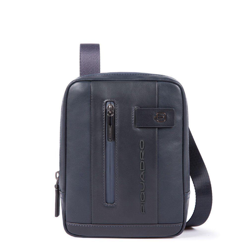Piquadro Borsello a Tracolla in Pelle Blu con Porta iPad®mini CA3084UB00 Linea Urban