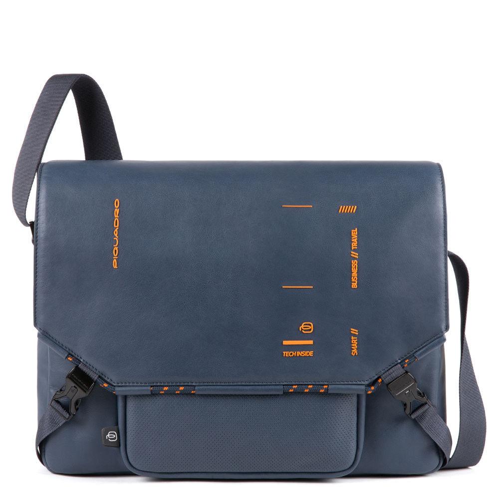 Piquadro Messenger Porta Tablet CA4925S106 in Pelle Blu