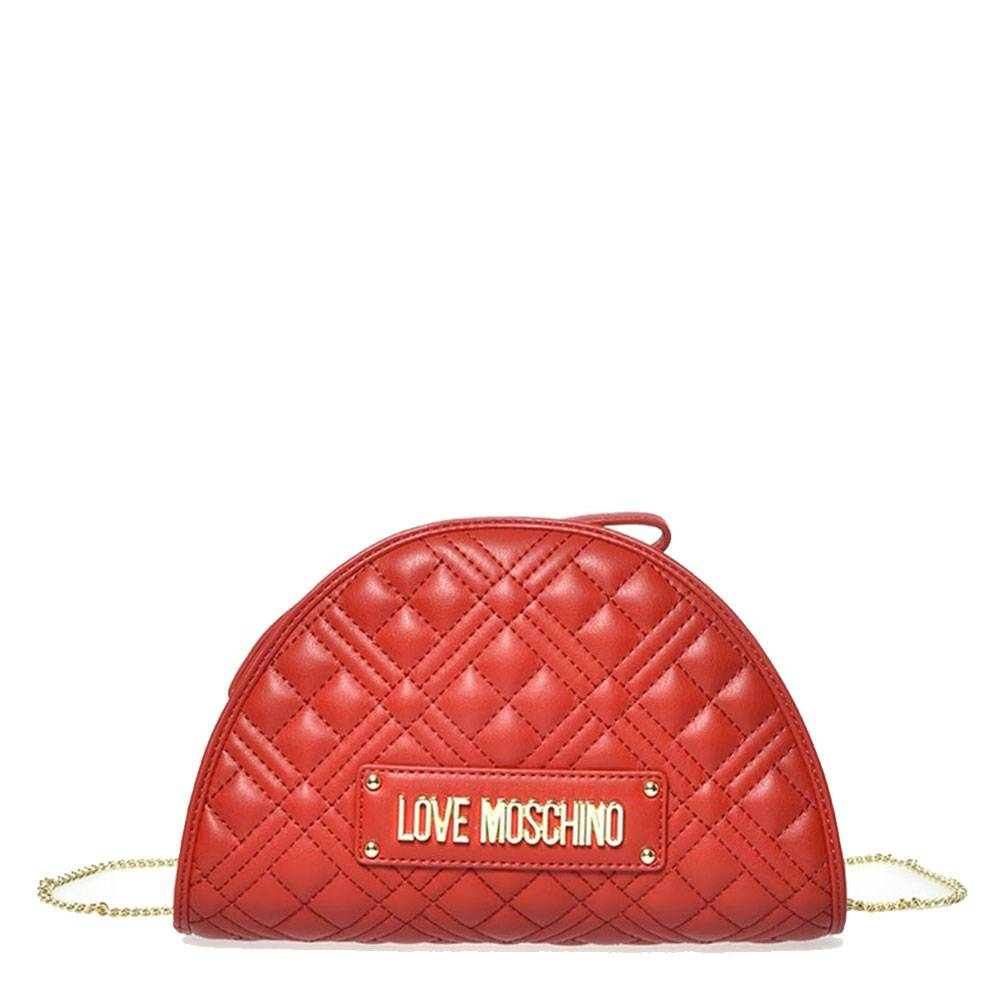 Moschino Borsa Donna Clutch con Tracolla linea New Shiny Quilted Rosso