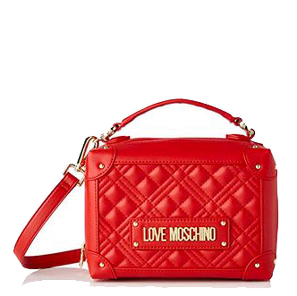 Moschino Borsa Donna Bauletto Rigido a Mano linea New Shiny Quilted Rosso
