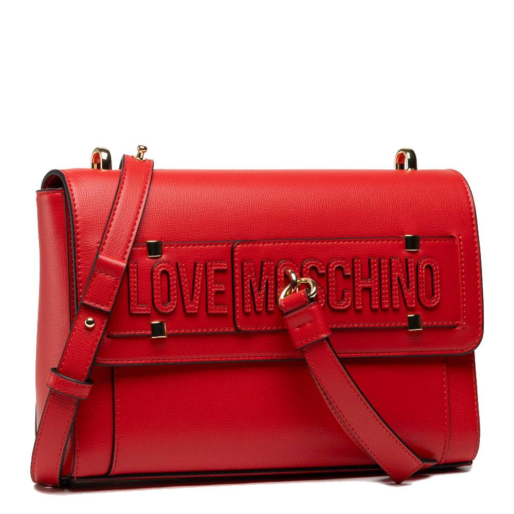 Moschino Borsa Donna a Spalla Rossa con Borchiette
