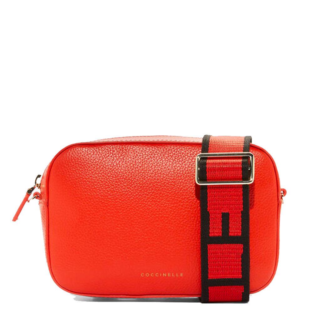 Coccinelle Borsa Donna a Tracolla Linea Tebe Colore Polish Red