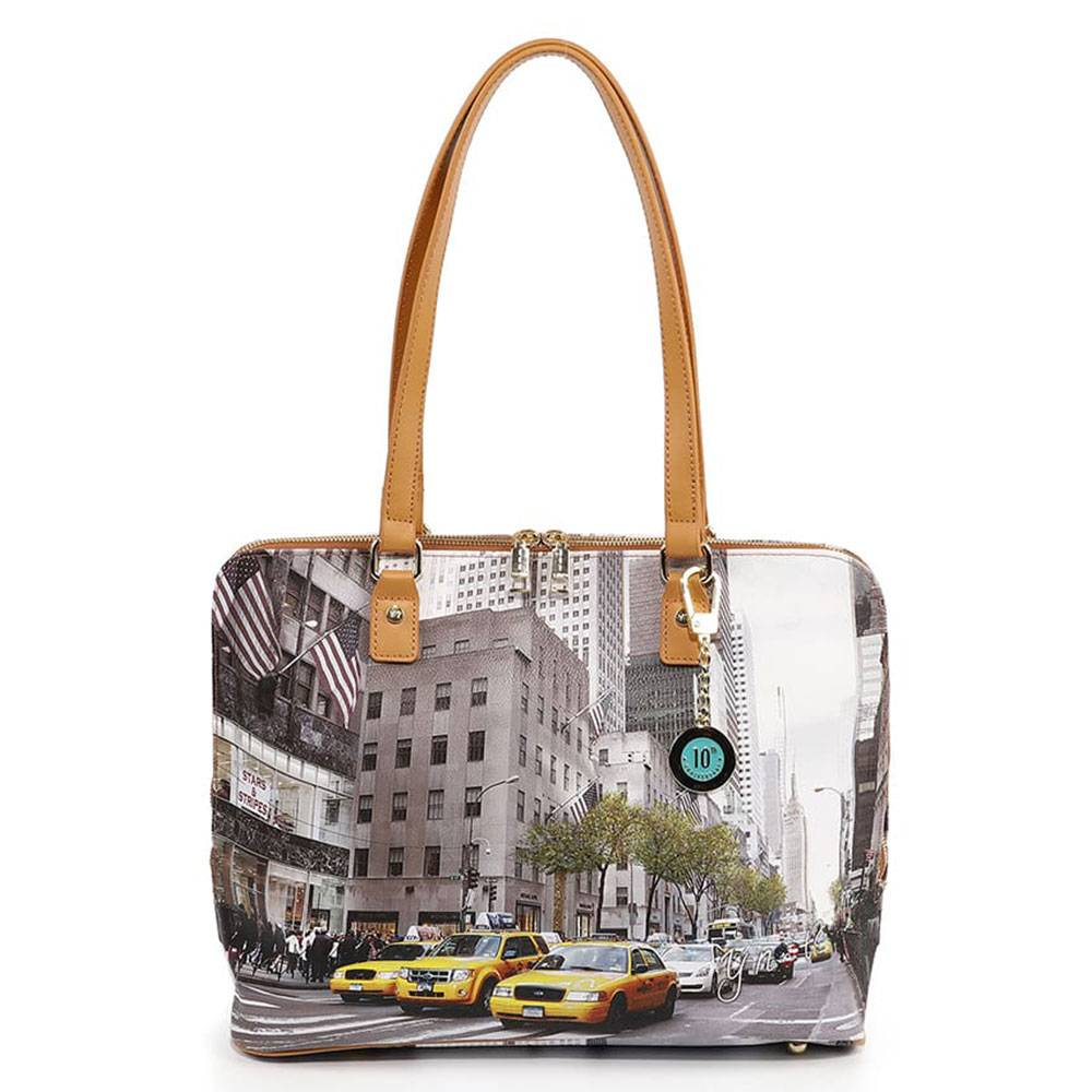 Y Not? Borsa Donna Grande a Spalla Y NOT YES-478 New York Streets