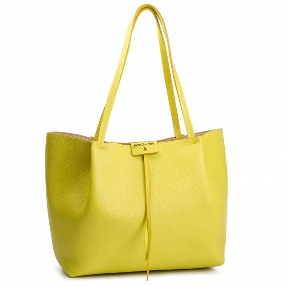 Patrizia Pepe Borsa Donna Grande in Pelle  Shopping a Spalla 2V8896 Venus Yellow