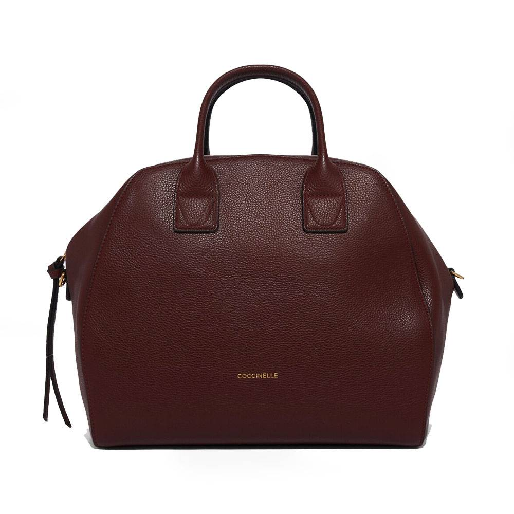 Coccinelle Borsa Donna a Mano in Pelle Linea Ela Journal Maxi colore Marsala