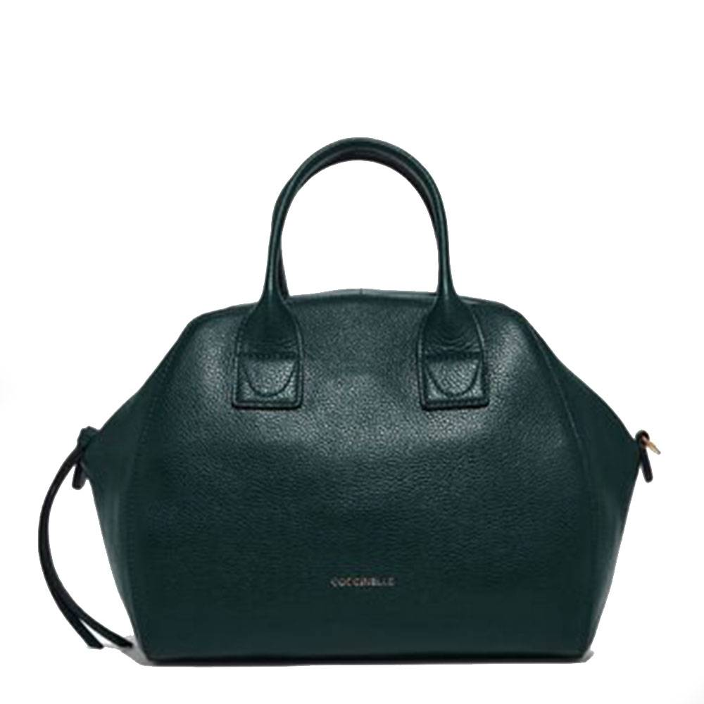 Coccinelle Borsa Donna a Mano in Pelle Linea Ela Journal Medium colore Mallard Green