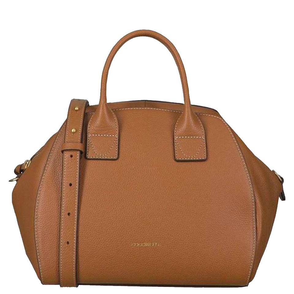 Coccinelle Borsa Donna a Mano in Pelle Linea Ela Journal Medium colore Caramel