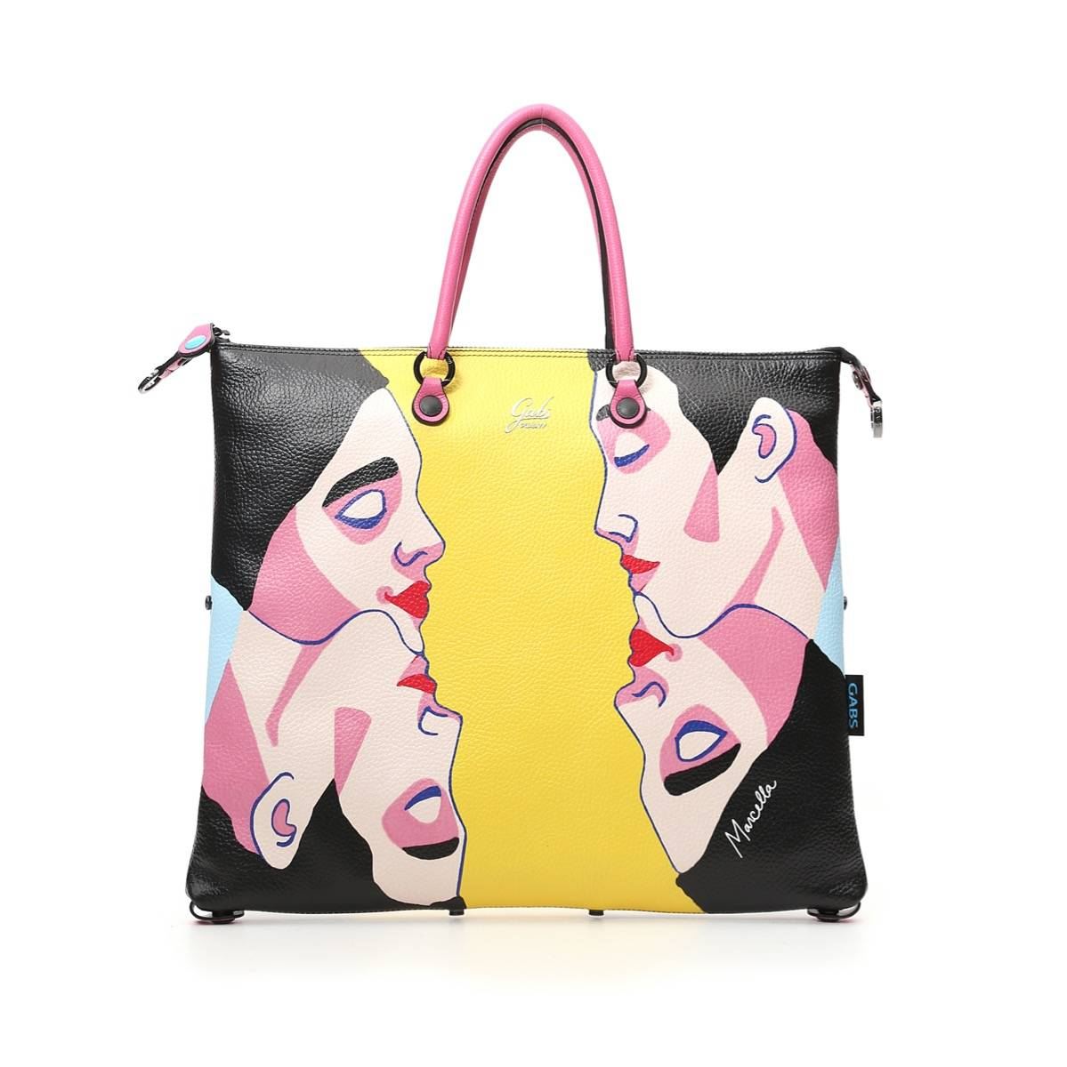 Gabs Borsa Donna a Mano G3 Super Trasformabile in Pelle stampa Duality Large