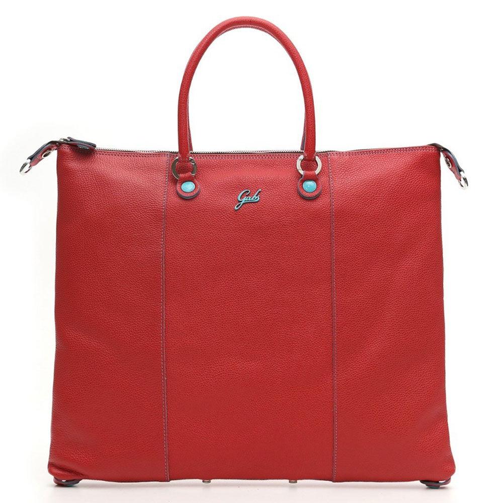 Gabs Borsa Donna a Mano con Tracolla G3 Plus Trasformabile in Pelle Opaca Rossa Media