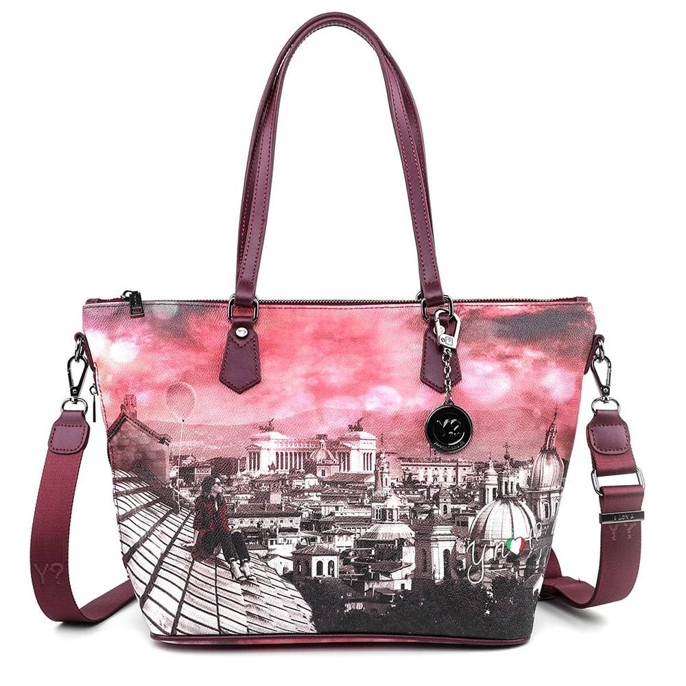 Y Not? Borsa Donna Y NOT Shopping a Spalla con Tracolla K-396 Pretty Dreamer