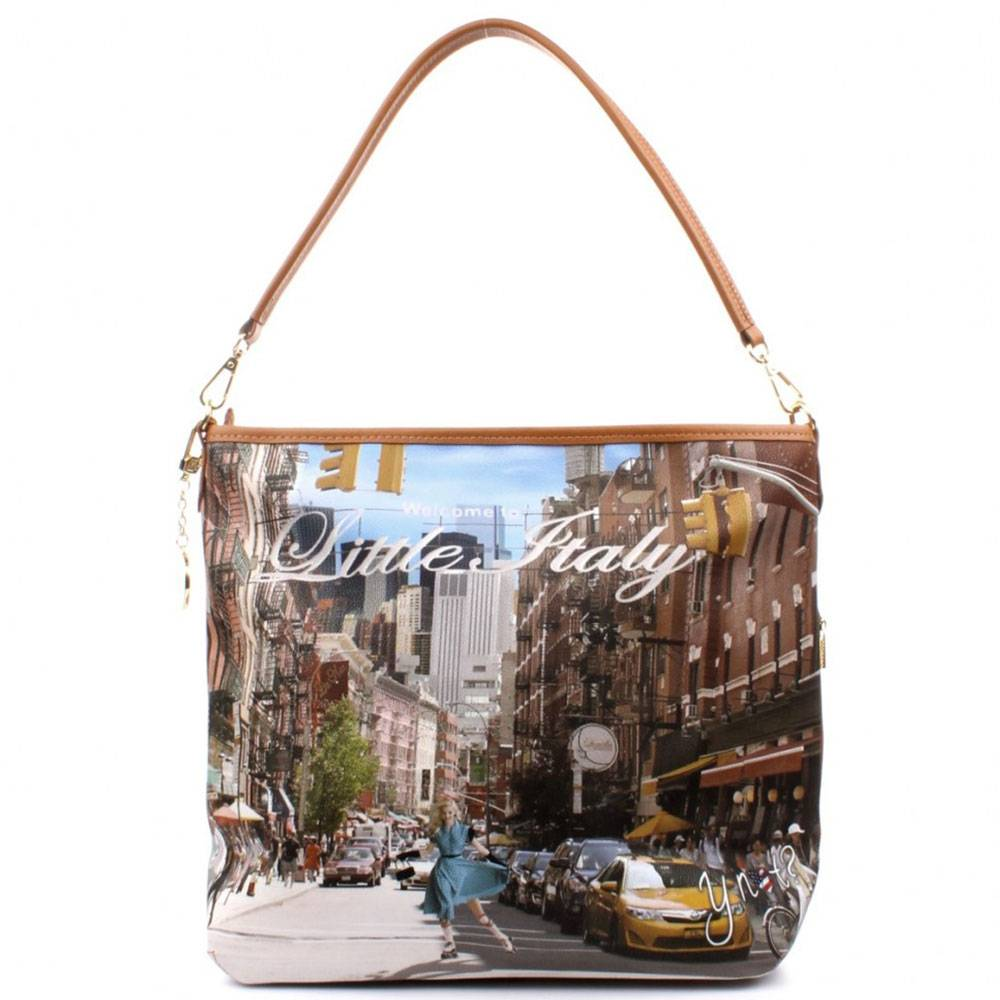 Y Not? Borsa Donna Y NOT a Spalla con Tracolla L-349 Little Italy
