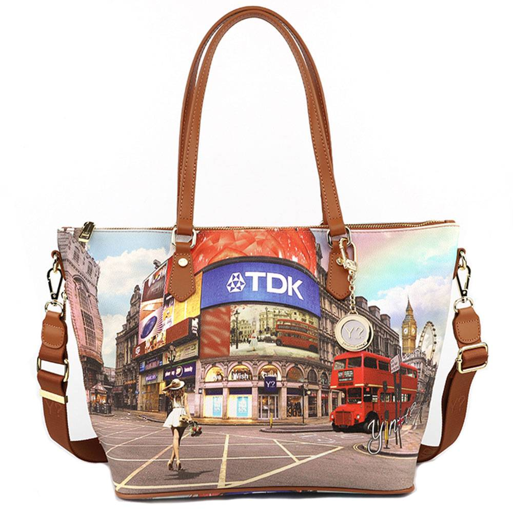 Y Not? Borsa Donna Y NOT Shopping Media a Spalla con Tracolla L-396 Princess in London