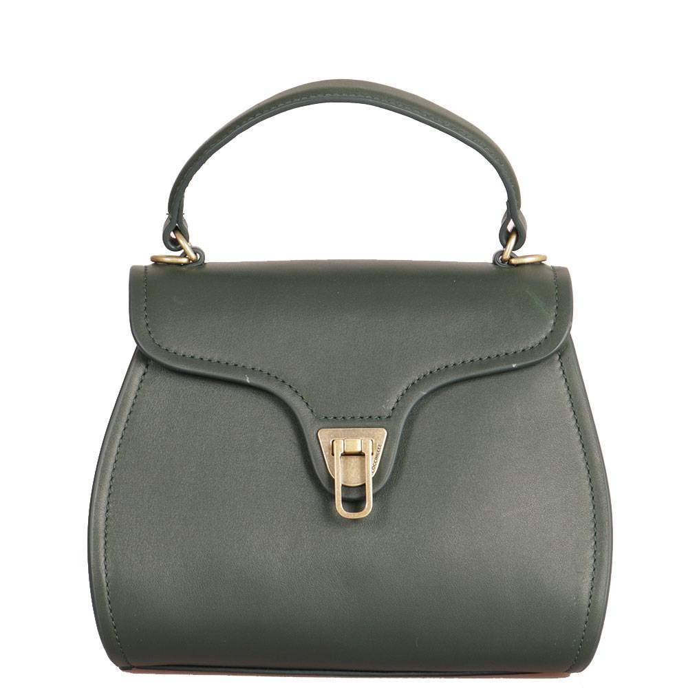 Coccinelle Borsa Donna a Mano in Pelle Liscia linea Marvin Mini colore Mallard Green