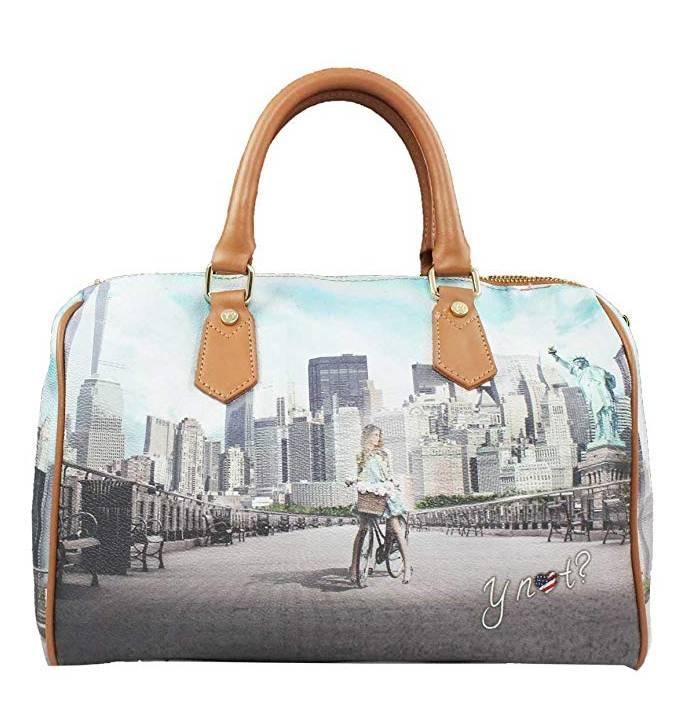 Y Not? Borsa Donna Y NOT Bauletto con tracolla sganciabile J-318 Big Apple