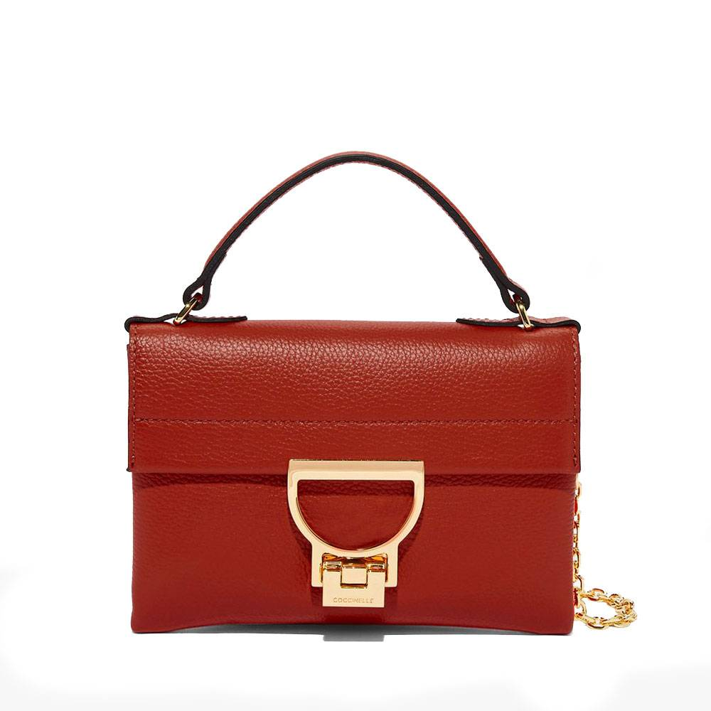 Coccinelle Borsa Donna a Mano in Pelle Linea Arlettis Mini colore Foliage Red