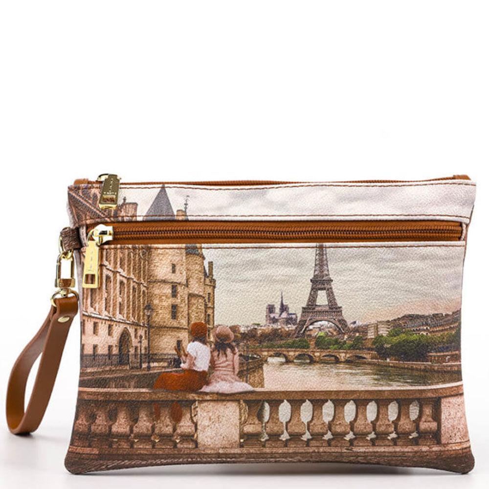 Y Not? Pochette Media Donna con Zip Y NOT YES-343 Paris C'est La Vie