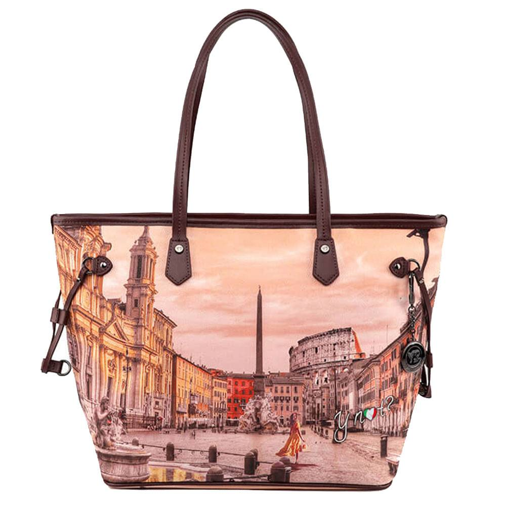 Y Not? Borsa Donna Y NOT Shopping Grande a Spalla YES-319 Morning in Rome