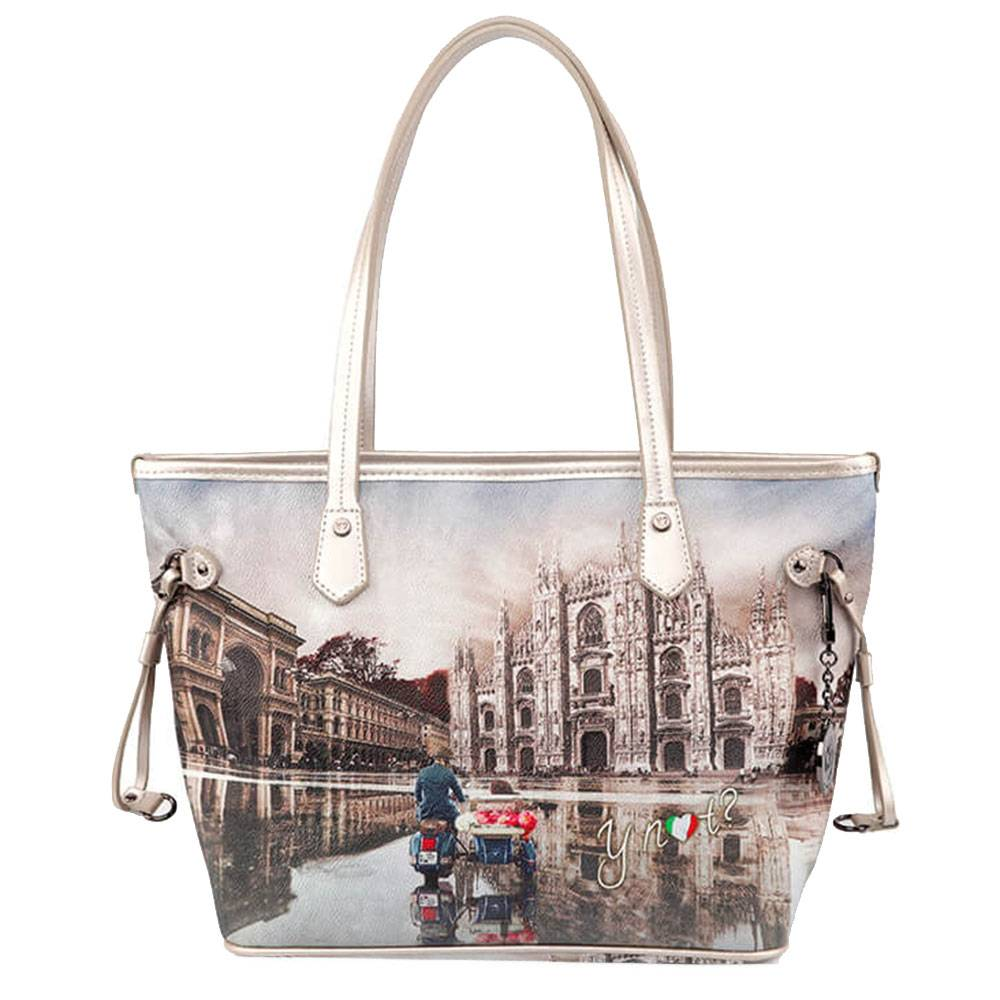 Y Not? Borsa Donna Y NOT Shopping Media a Spalla YES-336 Milano Race