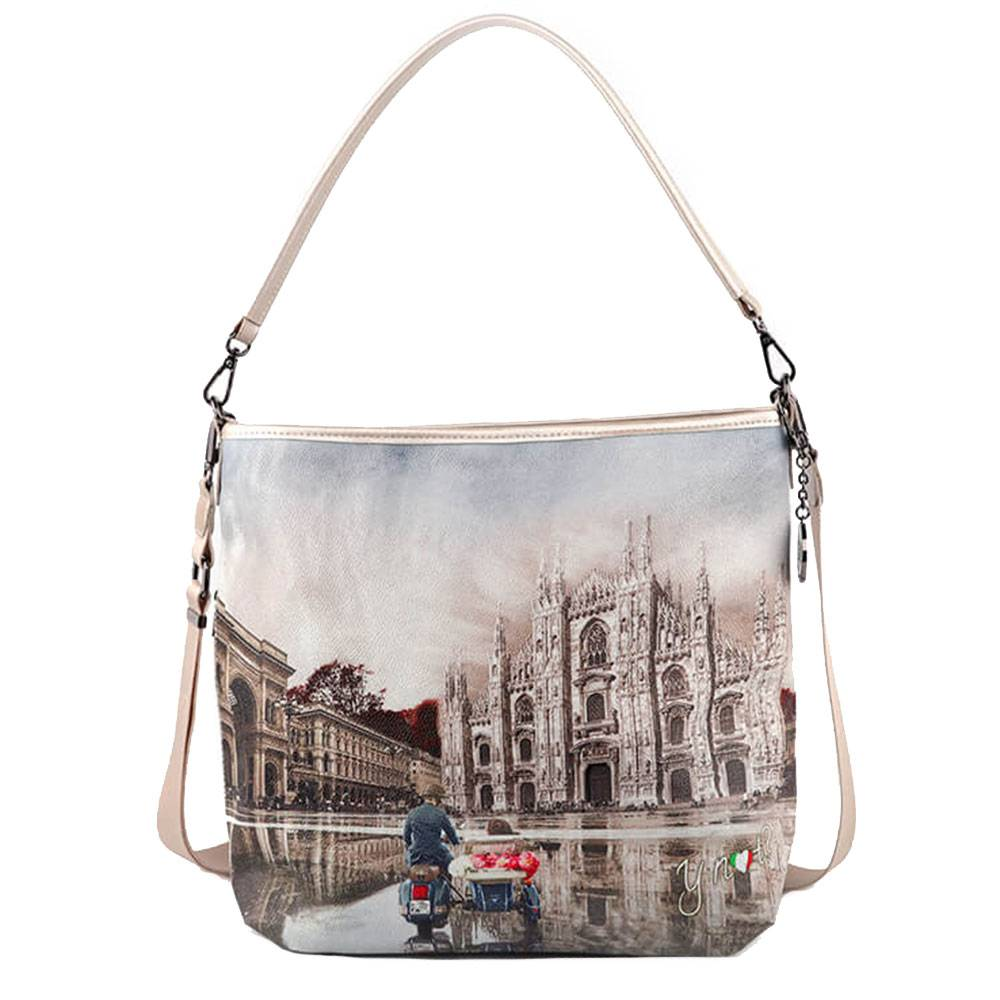 Y Not? Borsa Donna Y NOT a Spalla con Tracolla YES-349 Milano Race