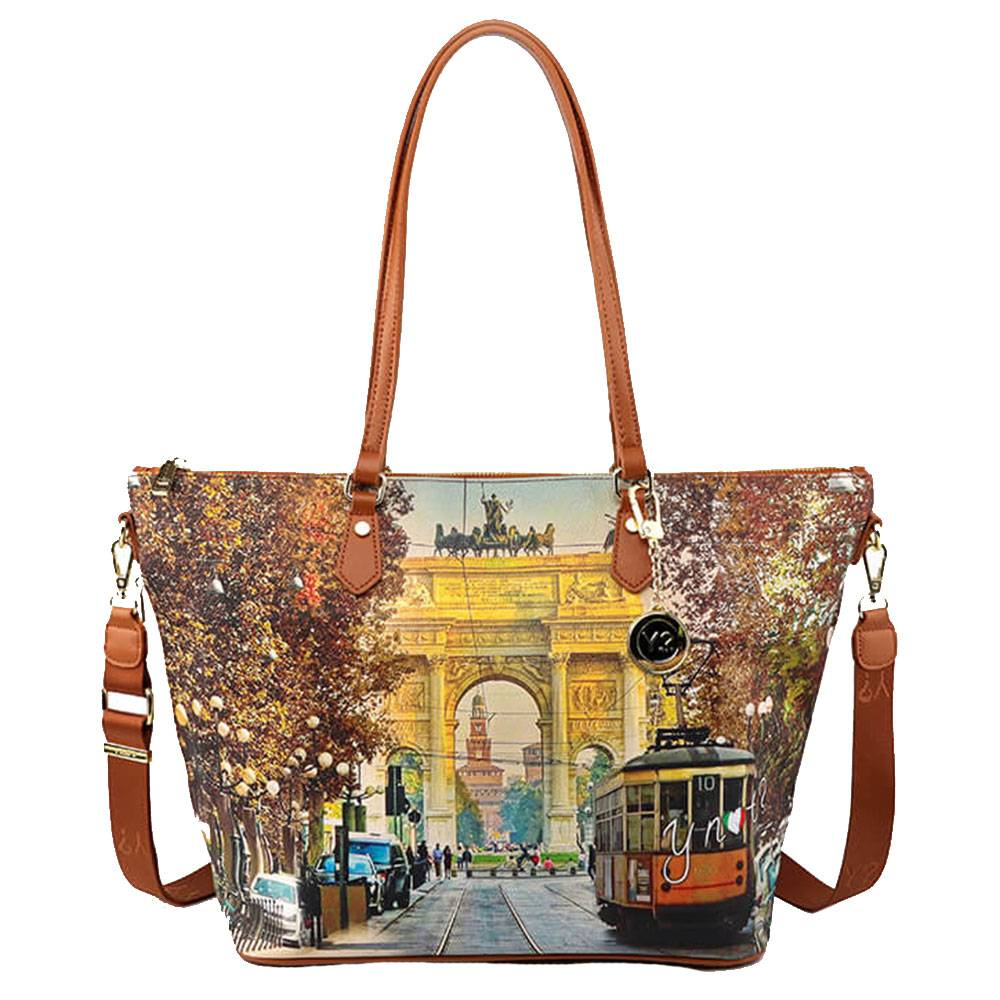 Y Not? Borsa Donna Y NOT Shopping a Spalla con Tracolla YES-397 Milan Happy Hour