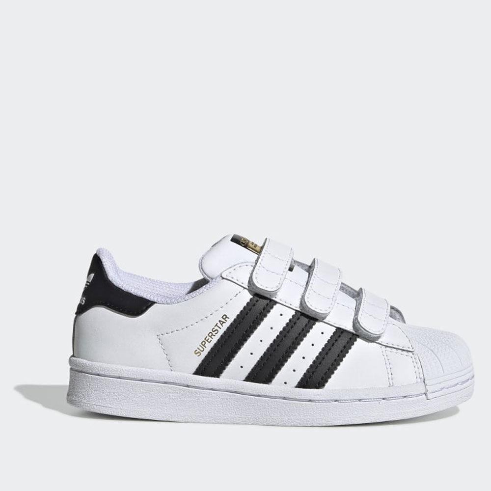 Adidas Scarpe Bambino Sneakers con Strappi linea Superstar colore Bianco