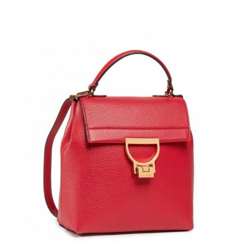 Coccinelle Zaino Donna in Pelle con Doppia Portabilità linea Arlettis colore Ruby