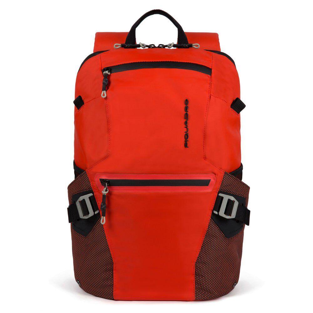 """Piquadro Zaino in Tessuto Riciclato Rosso Porta Pc 15,6""""- CA5495PQM"""