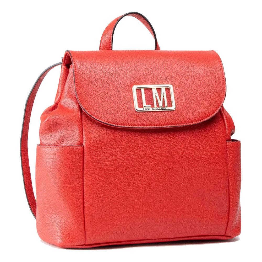 Moschino Zaino con Pattina con Logo LM Rosso
