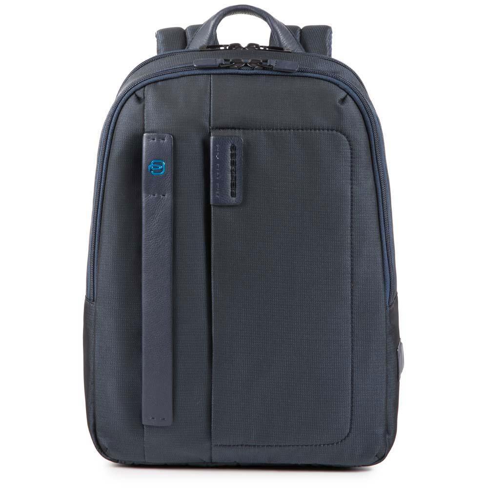 """Piquadro Zaino Porta Pc 14"""" e Tablet CA3869P16 in Tessuto Colore Chevron Blu"""