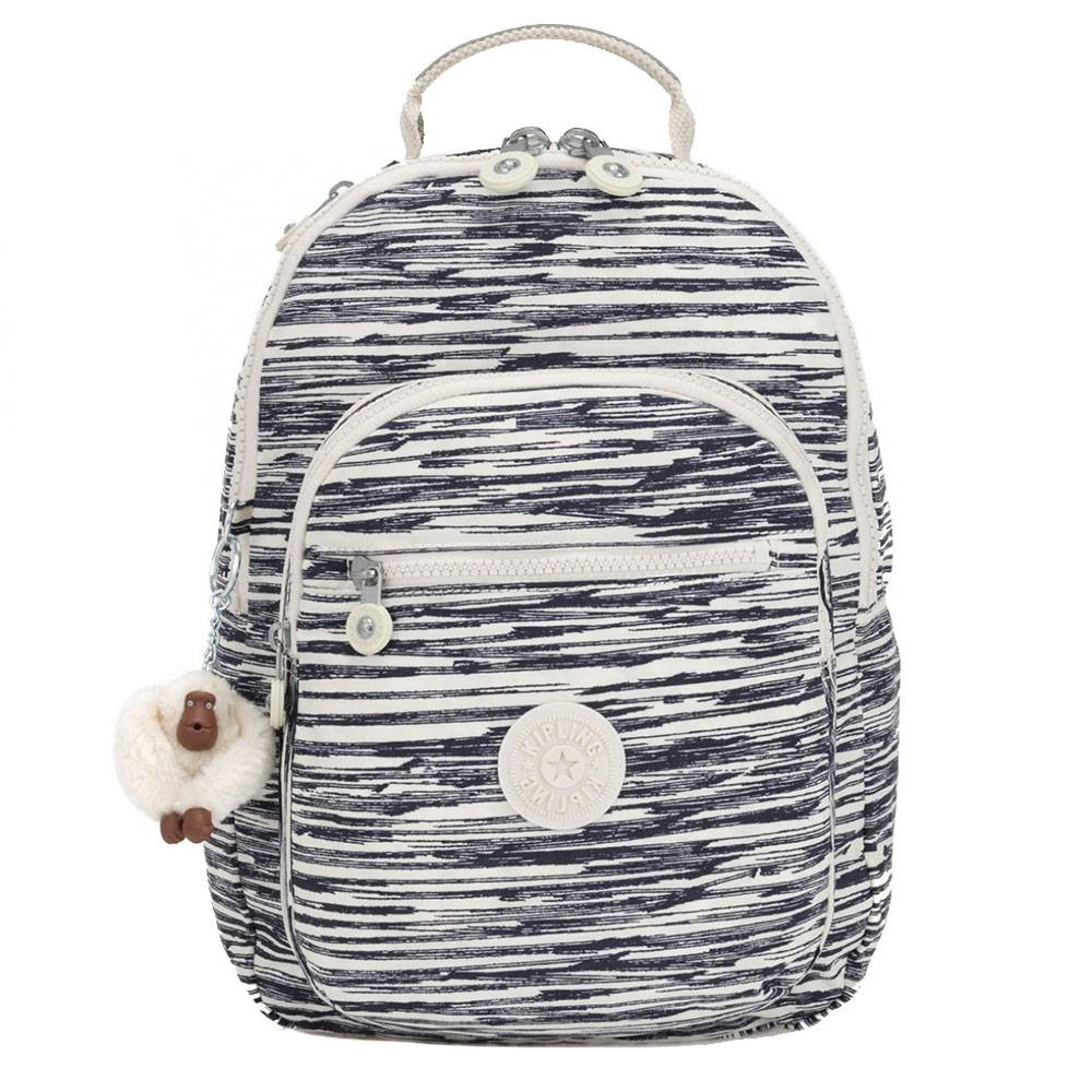 Kipling Zaino Donna  Clas Seoul Colore Scribble Lines Small