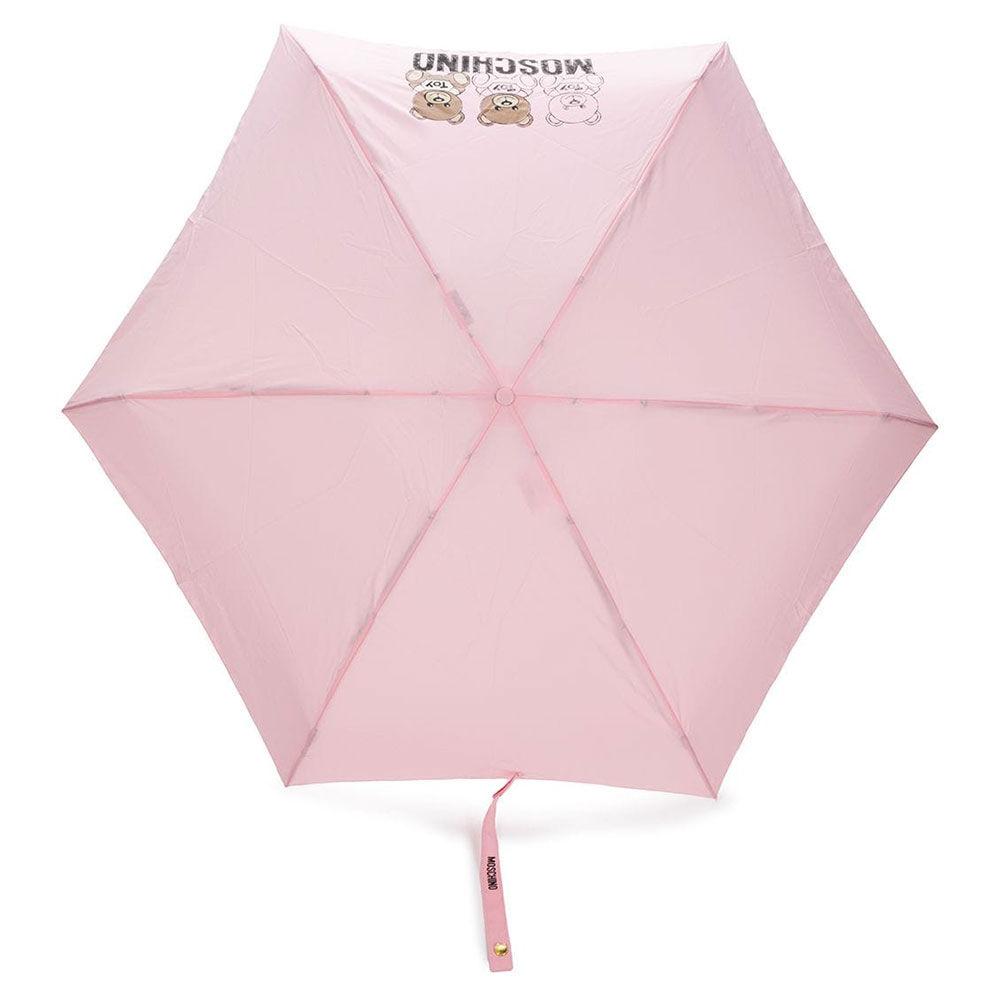 moschino ombrello mini con orso portachiavi colore rosa