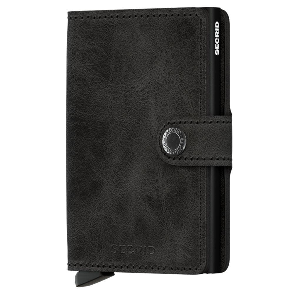 secrid porta carte con clip linea vintage in pelle black con rfid