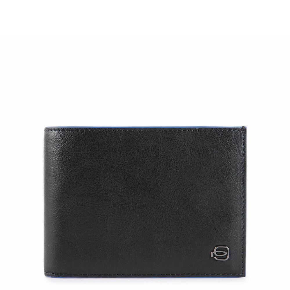 piquadro portafoglio uomo con portamonete in pelle nera pu257b2sr linea b2s