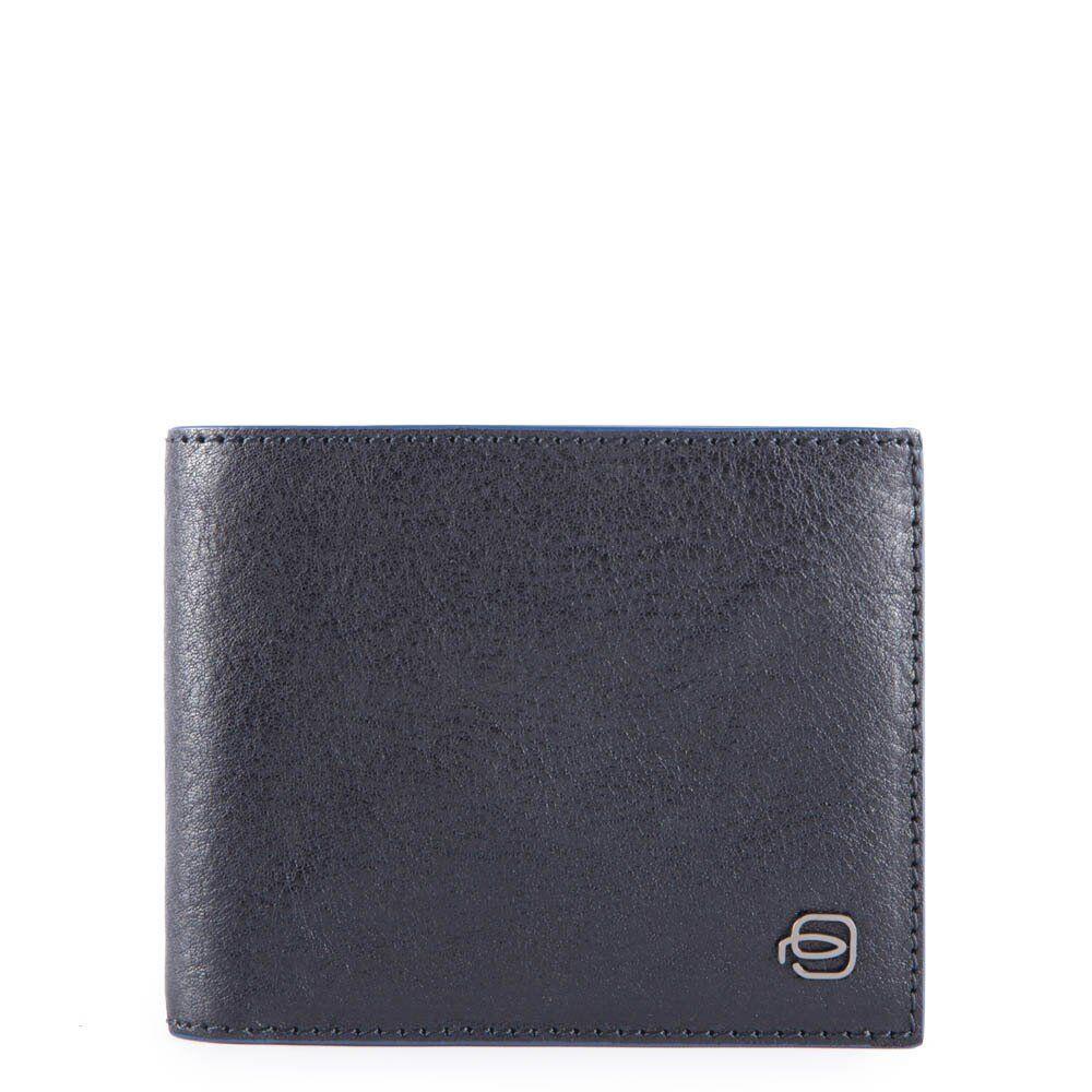 piquadro portafoglio uomo in pelle blu con portamonete e rfid pu4188b2sr