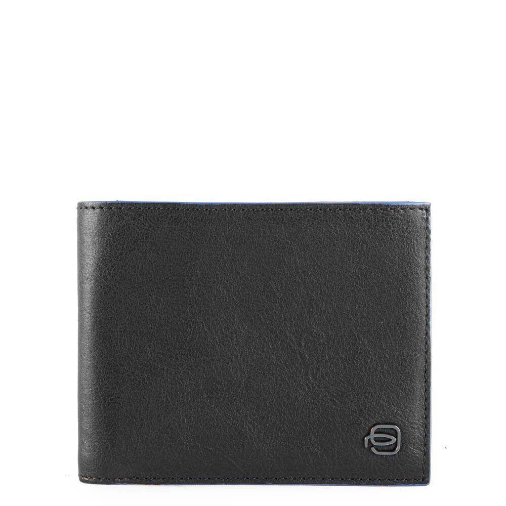 piquadro portafoglio uomo in pelle nera con portamonete e rfid pu4188b2sr