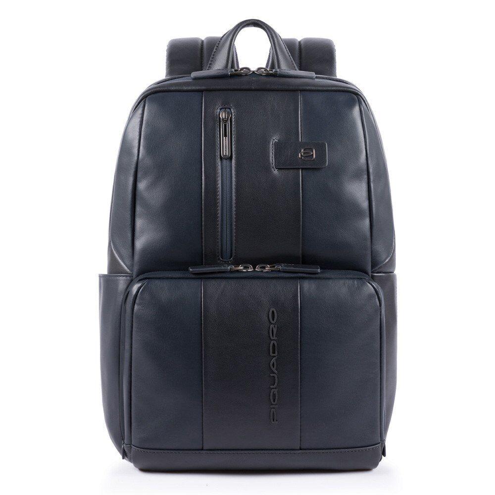 """Piquadro Zaino in Pelle Blu Porta Pc 14"""" e Porta iPad CA3214UB00 linea Urban"""